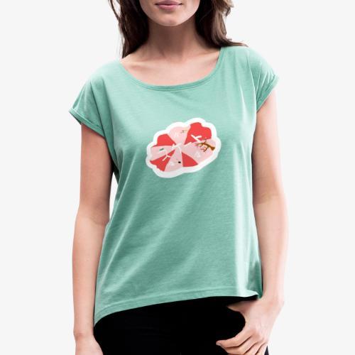 skootix japan - T-shirt à manches retroussées Femme