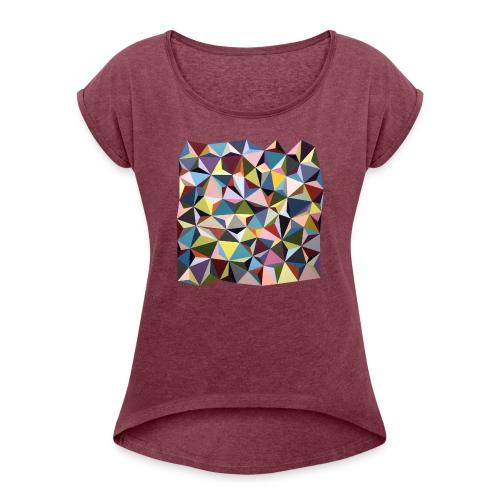 by Rikke Bjørn - Dame T-shirt med rulleærmer
