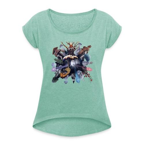 by Jonas Pihl - Dame T-shirt med rulleærmer