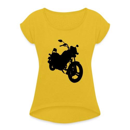Daelim VS, Silhouette von vorne rechts - Frauen T-Shirt mit gerollten Ärmeln