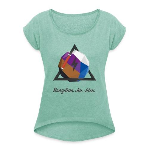 BJJ Journey v2 - Frauen T-Shirt mit gerollten Ärmeln