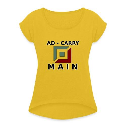 ADC MAIN - Frauen T-Shirt mit gerollten Ärmeln