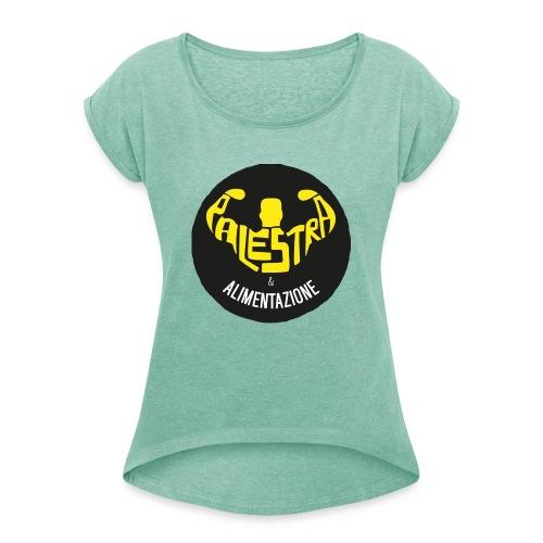 Palestra e Alimentazione - Maglietta da donna con risvolti