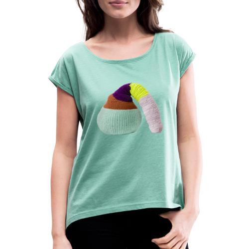 by Stine Leth - Dame T-shirt med rulleærmer
