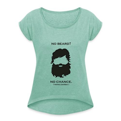 nobeard nochance png - Maglietta da donna con risvolti