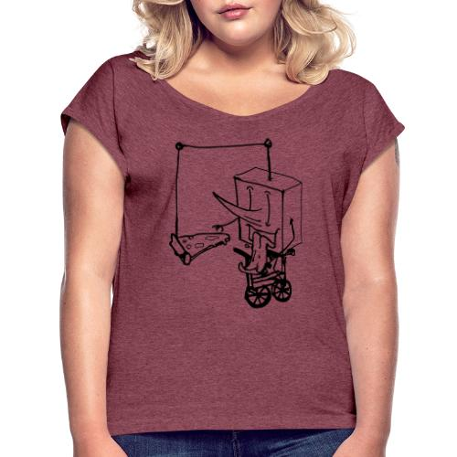 dude food - Women's T-Shirt with rolled up sleeves