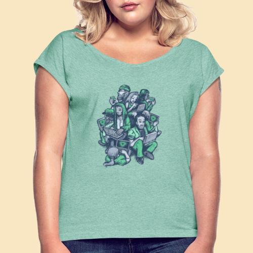 VUE - Frauen T-Shirt mit gerollten Ärmeln