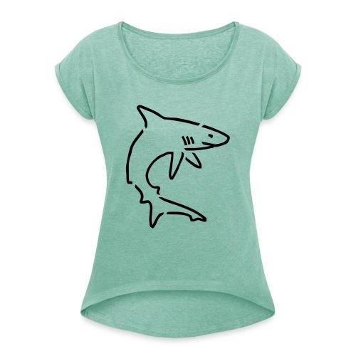 HaiSociety Hai - Frauen T-Shirt mit gerollten Ärmeln