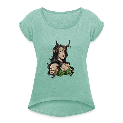 Sexy Dryade - T-shirt à manches retroussées Femme