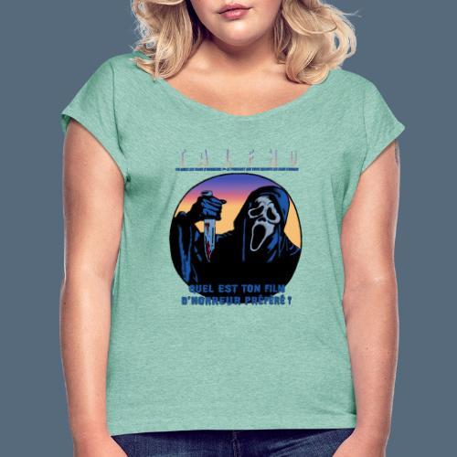 Collection Sandy.M 2021/2022 (Scream) - T-shirt à manches retroussées Femme