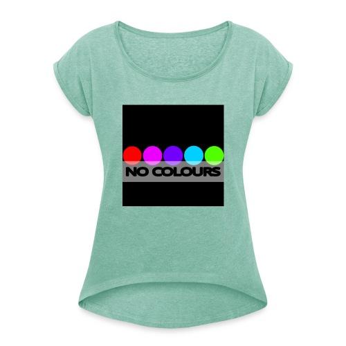 no_colours_20 - Camiseta con manga enrollada mujer