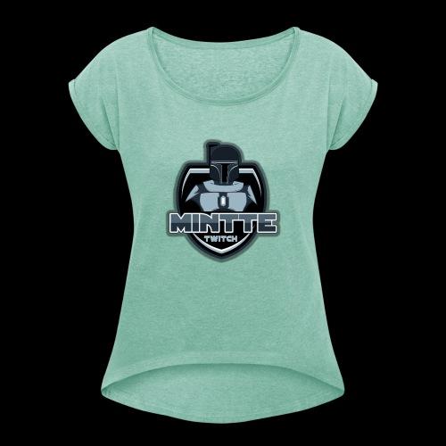 Mintte - Frauen T-Shirt mit gerollten Ärmeln