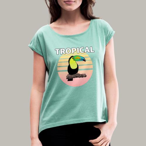 Toucan in the sun - T-shirt à manches retroussées Femme
