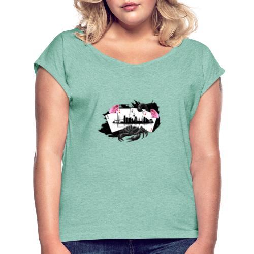 HHskyline - Frauen T-Shirt mit gerollten Ärmeln