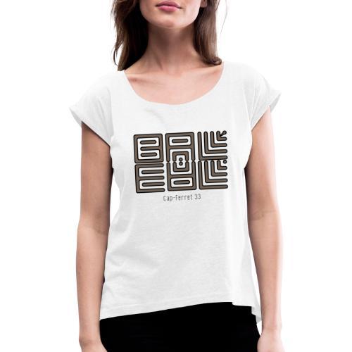 Wa-Dee-Ba Cap-Ferret Edition 2019 - T-shirt à manches retroussées Femme