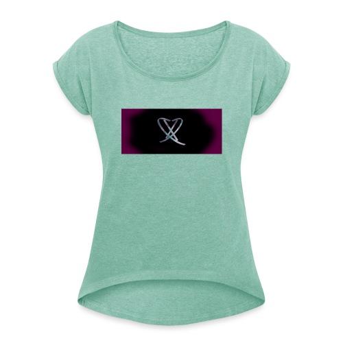 Box_logo_3 - Dame T-shirt med rulleærmer
