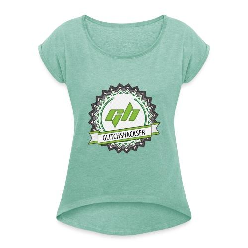 GlitchsHacksFR HD - T-shirt à manches retroussées Femme