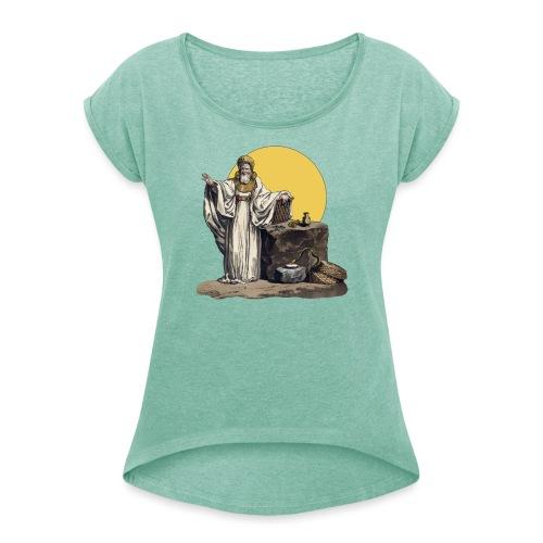 Druido (Sole Luna) - Maglietta da donna con risvolti