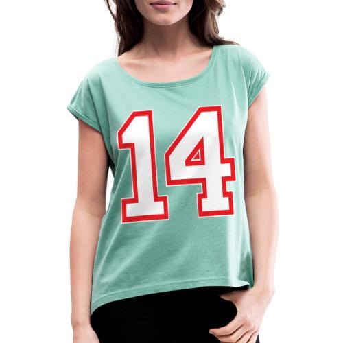 DANNIEB 14 - Maglietta da donna con risvolti