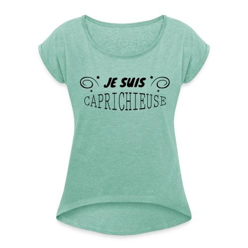 caprichieuse 01 - T-shirt à manches retroussées Femme