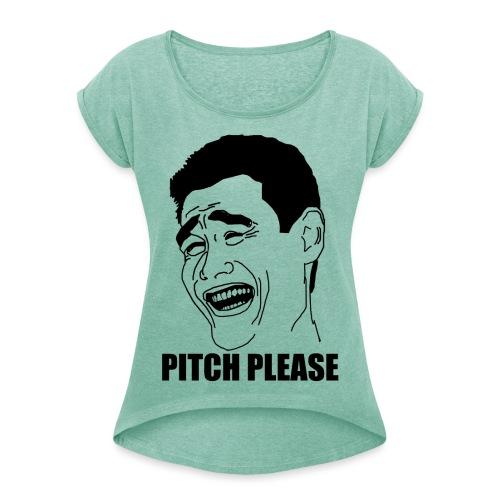 Y0UJC png - Frauen T-Shirt mit gerollten Ärmeln