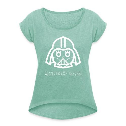 vadersmomb - Camiseta con manga enrollada mujer