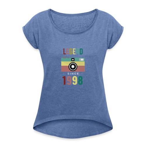 Legend since 1998 birthday t-shirt - Vrouwen T-shirt met opgerolde mouwen