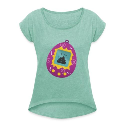 Tamagotchi Poo - Camiseta con manga enrollada mujer