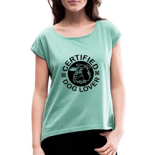 Certified - Frauen T-Shirt mit gerollten Ärmeln