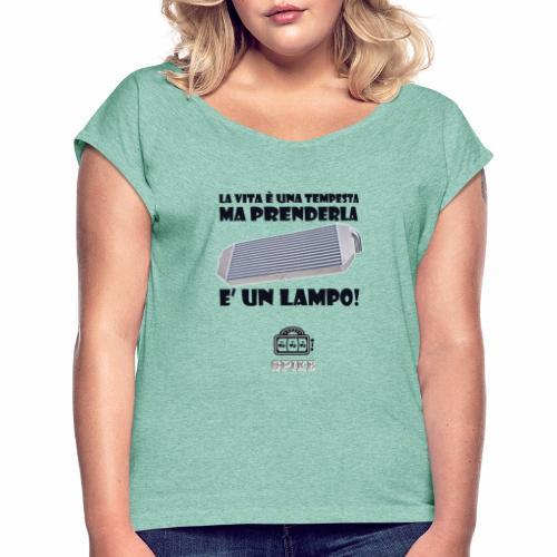 INTERCOOLER (nero) - Maglietta da donna con risvolti