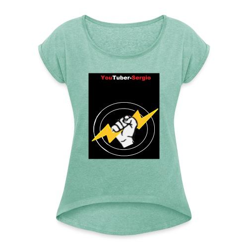 Y.T.S - Frauen T-Shirt mit gerollten Ärmeln