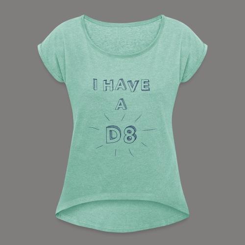 DATE blue - T-shirt à manches retroussées Femme