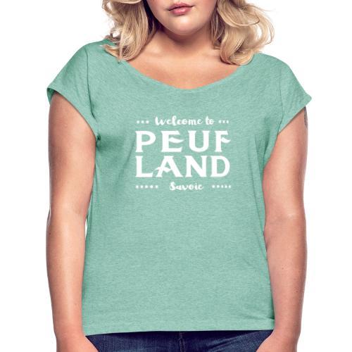 Peuf Land 73 - Savoie - White - T-shirt à manches retroussées Femme