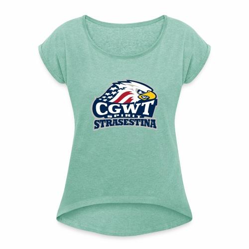 CGWT - Maglietta da donna con risvolti