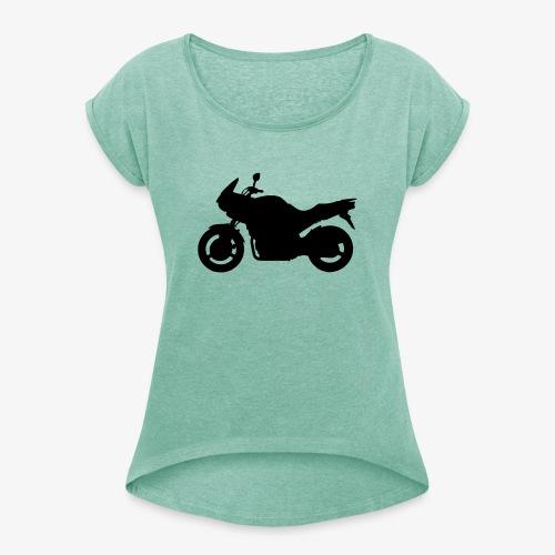 TDM 900 Silhouette - Vrouwen T-shirt met opgerolde mouwen
