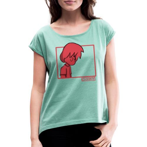 square color - Maglietta da donna con risvolti