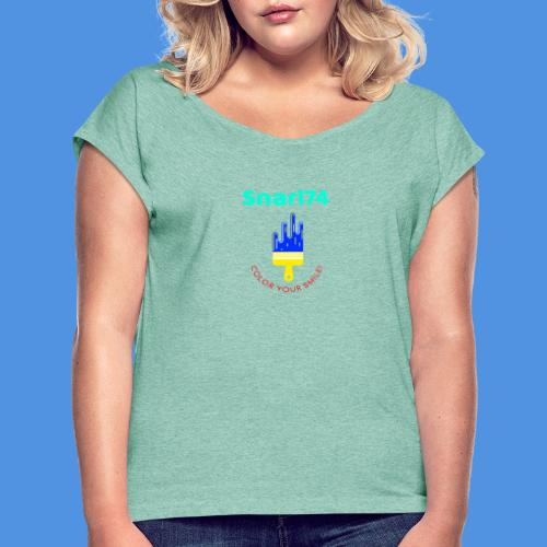 Paint - Maglietta da donna con risvolti