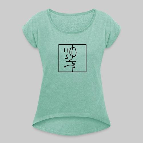 zwei Gesicht - Frauen T-Shirt mit gerollten Ärmeln