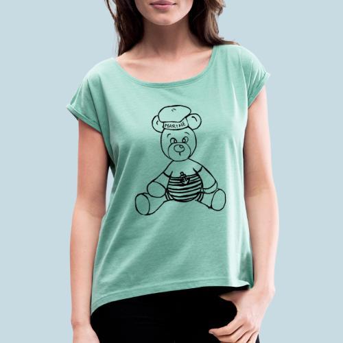 Seebär - Frauen T-Shirt mit gerollten Ärmeln