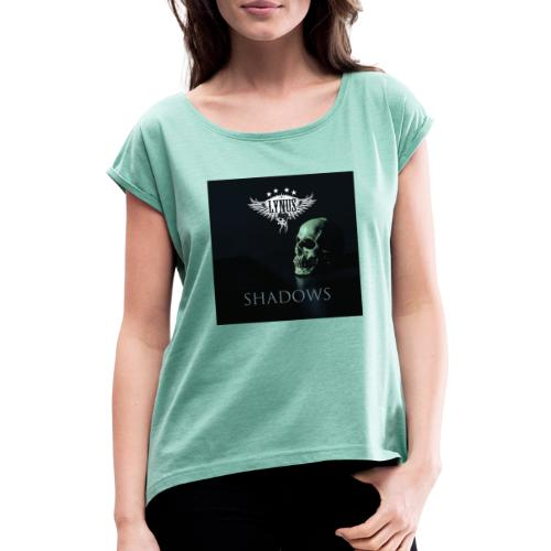 Lynus Shadows EP Art Promo Design - Women's T-Shirt with rolled up sleeves