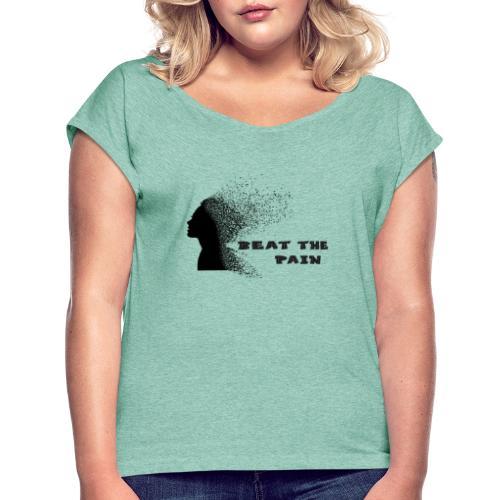 fibriomalgia - Koszulka damska z lekko podwiniętymi rękawami