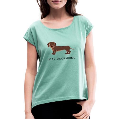 Dachshund Brown - Maglietta da donna con risvolti
