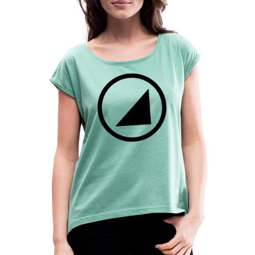 bulgebull marca oscura - Camiseta con manga enrollada mujer