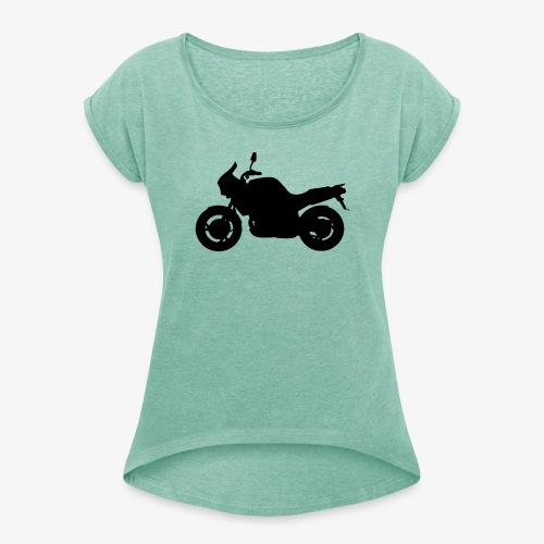 3VD - Vrouwen T-shirt met opgerolde mouwen