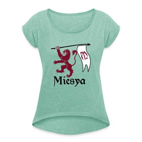 Miesya Shirt Vrouw - Vrouwen T-shirt met opgerolde mouwen