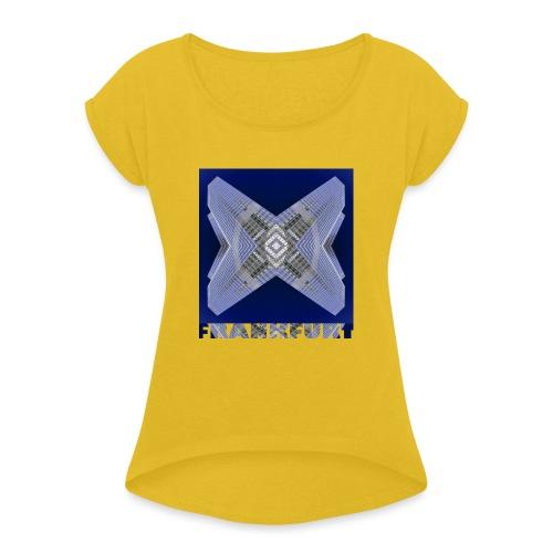 Frankfurt #4 - Frauen T-Shirt mit gerollten Ärmeln