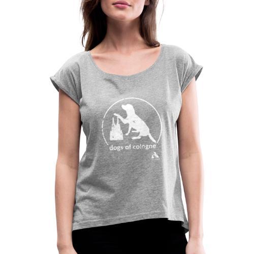 Dogs of Cologne - das Original! - Frauen T-Shirt mit gerollten Ärmeln