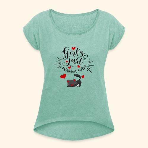 CAT - T-shirt à manches retroussées Femme