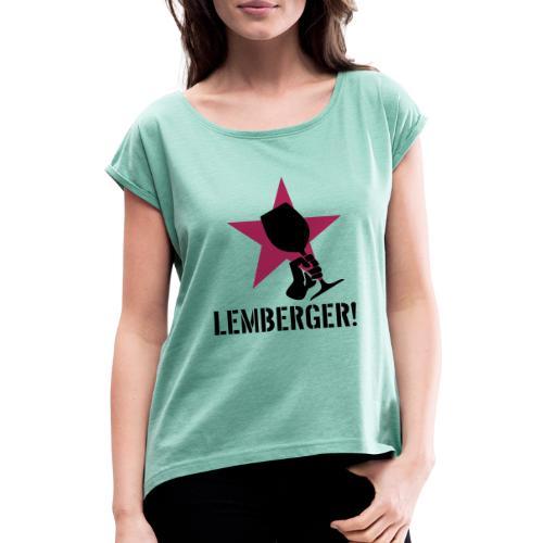 Lemberger Revolution - Frauen T-Shirt mit gerollten Ärmeln