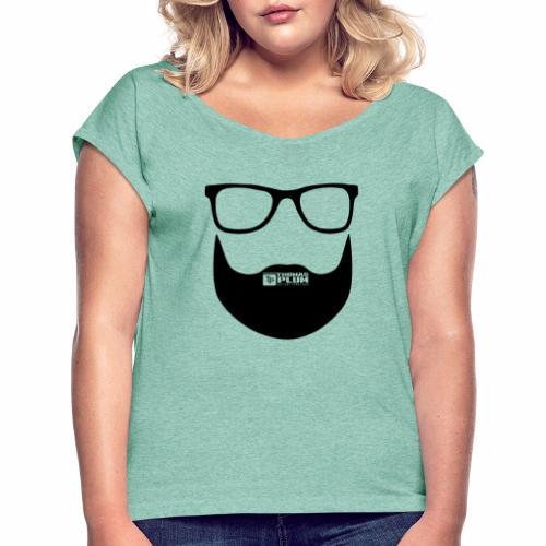 Plum Bart Schwarz - Frauen T-Shirt mit gerollten Ärmeln